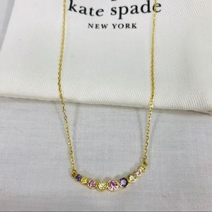 Kate Spade Arc Cubic Zirconia Gold Tone Necklace